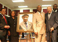 George Washington Carver alumni present portrait of George Washington Carver