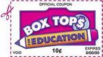 box top label