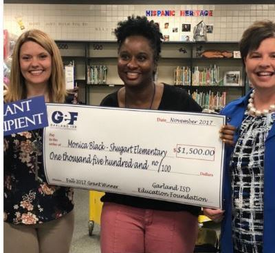 The librarian won a $1500 GEF grant
