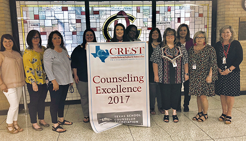 Counselors Receive Crest Award for 2017