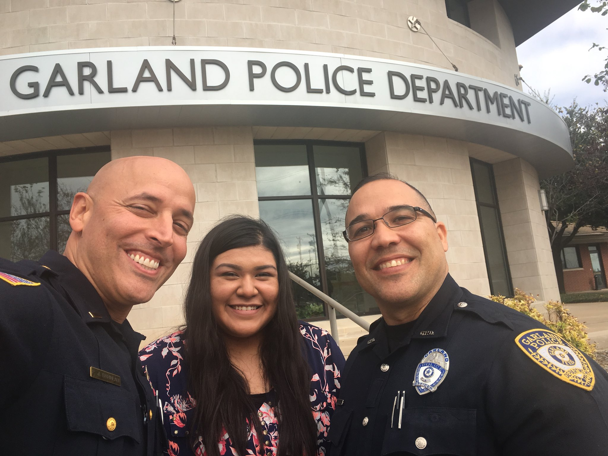 GHS Student at Job Shadowing Event with Garland PD