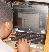 Photo Student on laptop